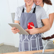Couple cooking — Stock Photo #5699099