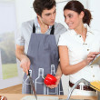Couple in kitchen — Stock Photo #5699109