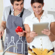 Couple in kitchen - Foto de Stock