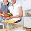 Couple in kitchen — Stock fotografie