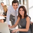 Office workers in the office — Stock Photo #5699418