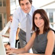 Office workers in the office — Stock Photo #5699419