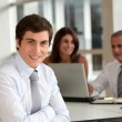 Office worker attending business meeting — Stock Photo #5699467