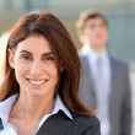 Smiling businesswoman — Stock Photo #5699599