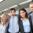 Group of happy business — Stock Photo
