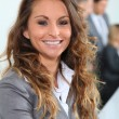 Stock Photo: Portrait of smiling businesswoman