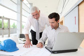 Architects working on planning — Stockfoto