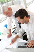 Architects working on planning — Foto Stock