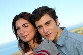 Closeup of young couple — Stock Photo