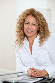 Portrait of beautiful blond businesswoman — Stock Photo