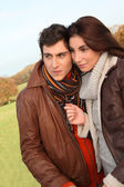 Young in loved couple — Stock Photo