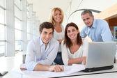 Affärsmöte i office — Stockfoto
