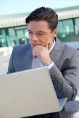 Ritratto di uomo d'affari — Foto Stock