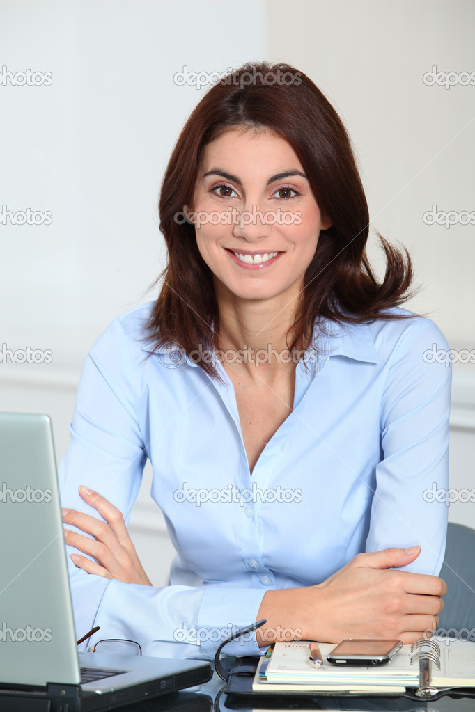 Portrait of smiling businesswoman  Stock Photo #5698247