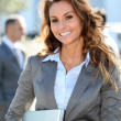 Portrait of beautiful smiling businesswoman — Stock Photo #5700029