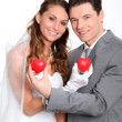 Bride and groom standing — Stock Photo #5700374
