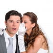 Married couple expressions — Stock Photo