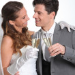 Portrait of happy married couple — Stock Photo