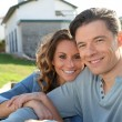 Portrait of happy new property owners — Stock Photo #5700550