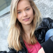 Closeup of teenage girl — Stockfoto