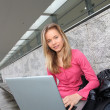 Student with laptop computer — Stock Photo #5701036