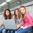 Group of teenage girls - Stock Photo