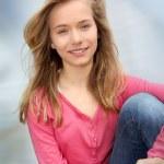 Closeup of teenage girl — Stock Photo #5701052