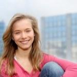 Closeup of teenage girl — Stock Photo #5701053