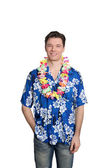 Man standing with hawaiian shirt — Stock Photo
