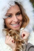 Portrait of beautiful smiling woman — Stock Photo