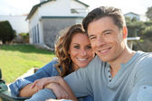 Portrait of happy new property owners — Stock Photo