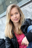 Closeup of teenage girl — Stock Photo