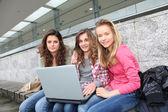 Group of teenage girls — Stock Photo