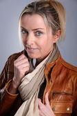 Portrét blondýnka — Stock fotografie