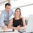 Business team in the office — Stock Photo