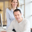 Portrait of smiling office workers — Stock Photo #6697688