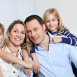 Happy family portrait — Stock Photo