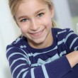 Portrait of 10-year-old blond girl — Stock Photo