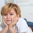 Portrait of 8-year-old boy — Stock Photo