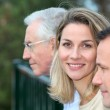Portriat of smiling blond woman — Stock Photo