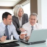 Sales in work meeting — Stock Photo