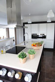 General view of contemporary home kitchen — Stock Photo