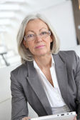 Closeup of senior businesswoman — Stock Photo