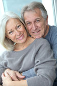 Portrait of happy in loved senior couple — Stock Photo