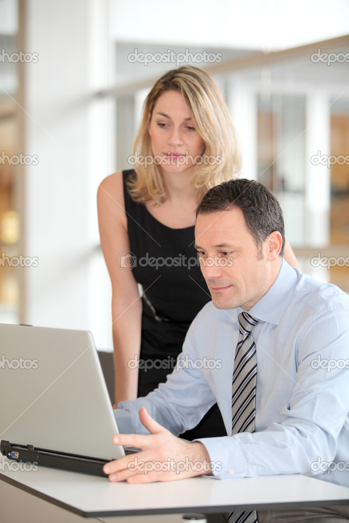 Business working in the office — Stock Photo #6697469