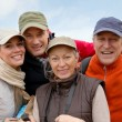 Portrait of happy group of hikers — Stock Photo #6700094