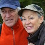 Portrait of senior couple on hiking day — Stock Photo