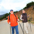 Senior couple on a walking day — Stock Photo