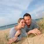 Happy couple at the beach — Stock Photo #6700378