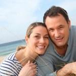 Happy couple at the beach — Stock Photo #6700380